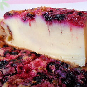 far breton aux fruits rouges et chocolat blanc