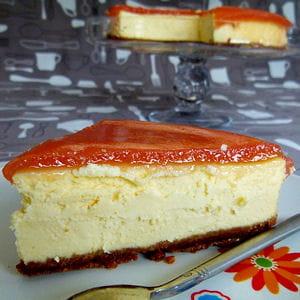 cheesecake new-yorkais et son miroir aux fruits