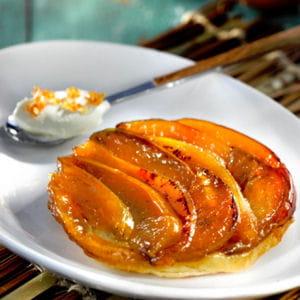 tarte tatin aux pommes et au coing
