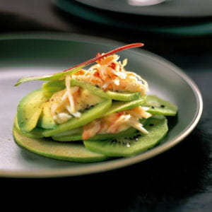 salade acidulée de kiwi au crabe