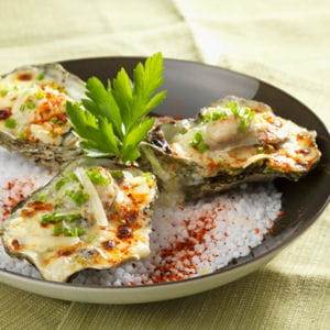 huître d'arcachon à l'ossau-iraty