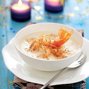 velouté de chou-fleur aux langoustines et foie gras