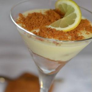 crème au citron et spéculoos
