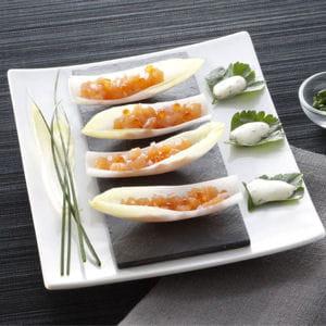 endives apéritives au tartare de saumon