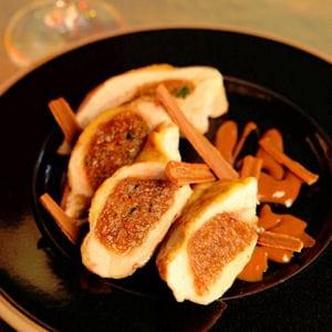 filets de pintade farcis au pain d'épices