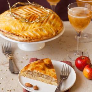 galette des rois légère pommes-poires