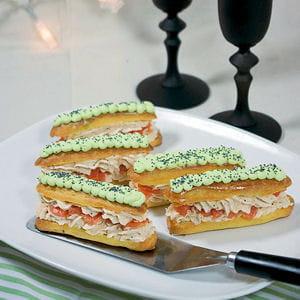 eclairs saumon et wasabi