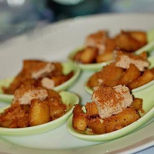 cuillères apéritives pommes-foie gras