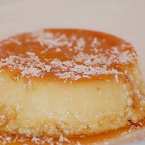 crème renversée au caramel et noix de coco