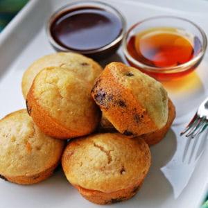 mini pancake muffin aux pépites de chocolat