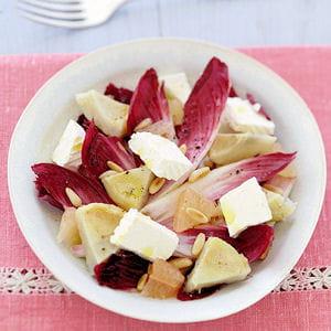 salade endives, artichauts et caprice des anges