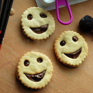 petits biscuits tout sourire