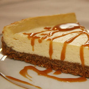 cheese cake et son caramel au sirop d'érable