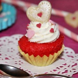 cupcakes redvelvet vanille et glaçage coquelicot