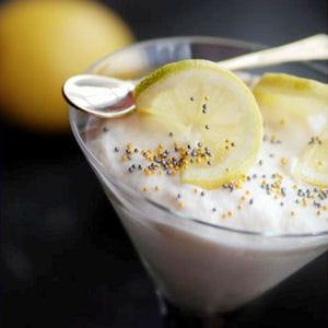 mousse de ricotta et yaourt, citron et miel