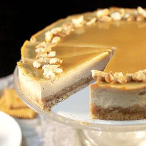 cheesecake aux petits-beurre & caramel beurre salé