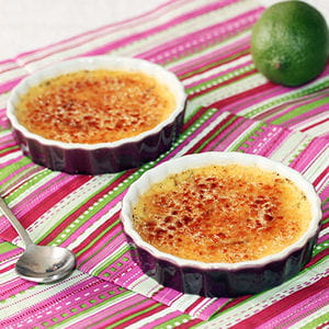 crème brûlée vanille aux zestes de citron vert