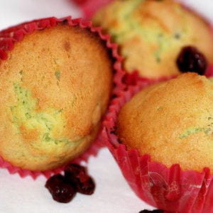 muffins pistache et cranberries