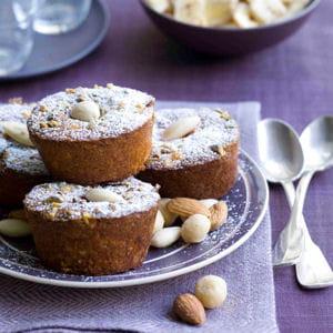 mini muffins framboises, amandes et noix