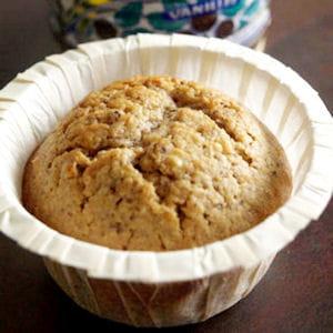 muffins à la crème de marron, noisette et chocolat