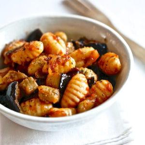 gnocchi, tomacouli® et aubergine