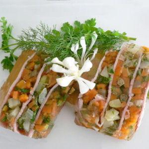 terrine de jambon aux petits légumes