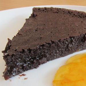 fondant au chocolat noir à l'orange