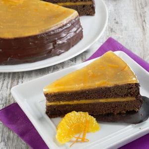 gâteau au chocolat et à la confiture d'orange