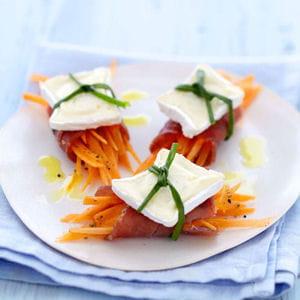 bouchée de thon fumé et carottes au caprice des dieux