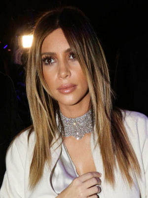 kim kardashian audéfilé stéphane rolland le 21 janvier 2014.