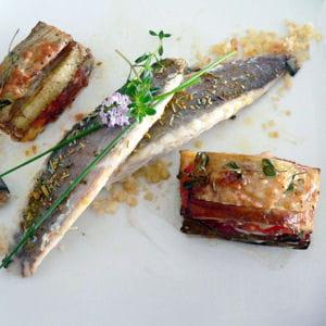 filets de maquereaux, millefeuille de provence