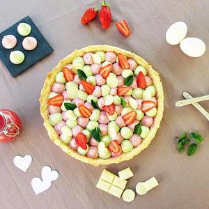 tarte gourmande fraise & menthe