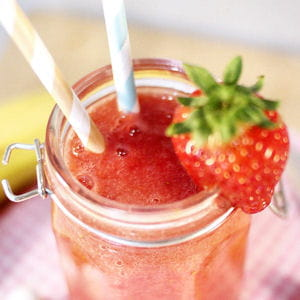 smoothie 100% fruits fraise-banane