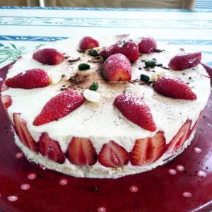 bavarois fraise-vanille