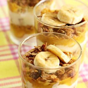 dessert muesli yaourt coco et banane
