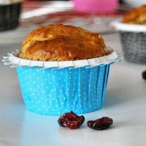muffins aux canneberges et à la crème d'amandes