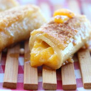 pain perdu pêche et mascarpone