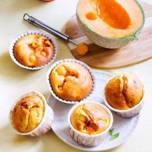 moelleux au melon, menthe et noisette
