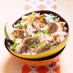 riz sauté au veau citronnelle