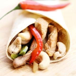 tortillas-veau et piment d'oiseau