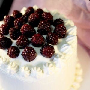 layer cake chantilly et mûres sauvages