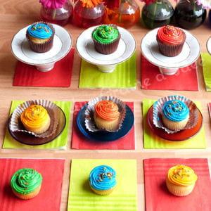 rainbow cupcake (cupcake arc-en-ciel)