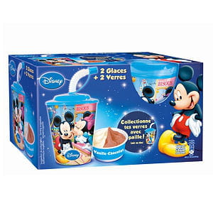 glace chocolat-vanille mickey et ses amis