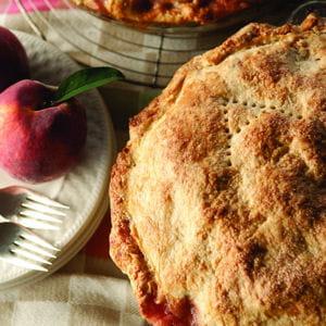 tarte aux pêches - peach pie