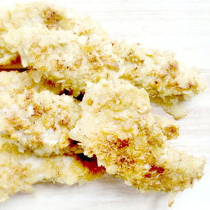 aiguillettes de poulet panées aux chips sel et poivre