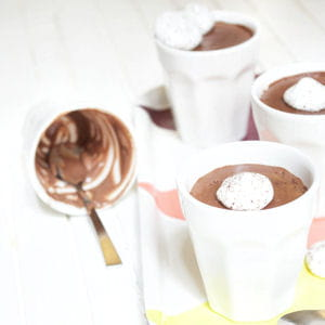 crèmes chocolat et meringue