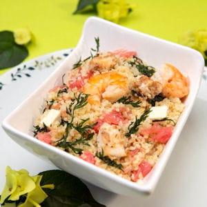 salade de la mer au pamplemousse