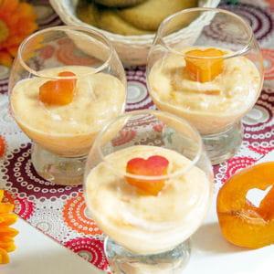 mousse d'abricots vanillée à la ricotta