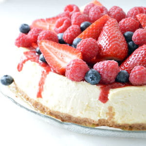cheesecake citron et fruits rouges