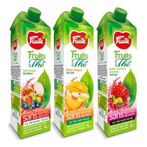 jus de fruits et thé de fruité